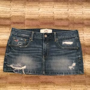 Hollister mini jean skirt